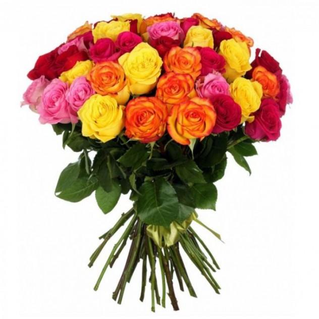 """Букет из 51 розы """"Мегамикс"""""""