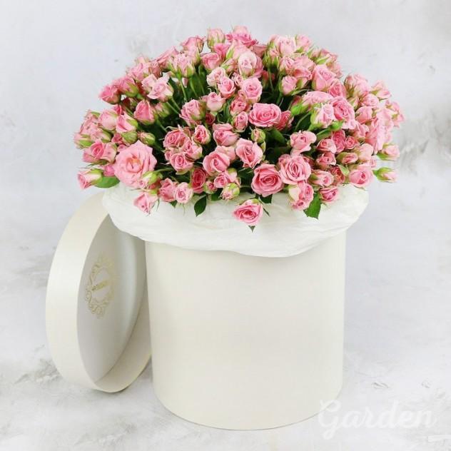 Коробочка из кустовой розы