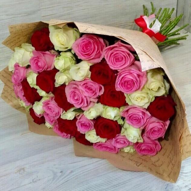 МИКС из 51 розы 1