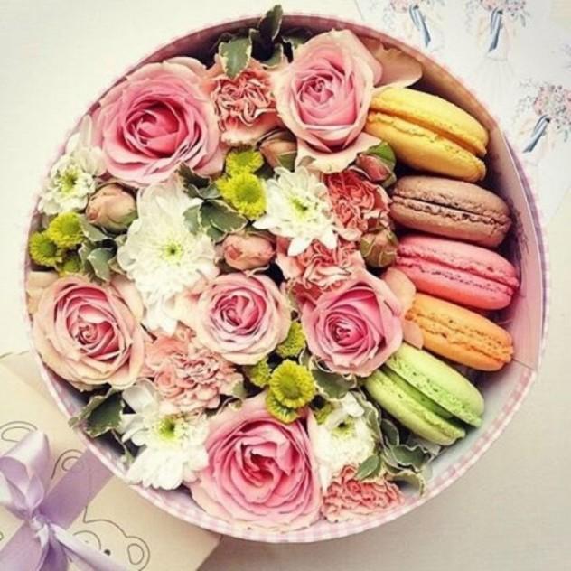 Розы с печеньем 3