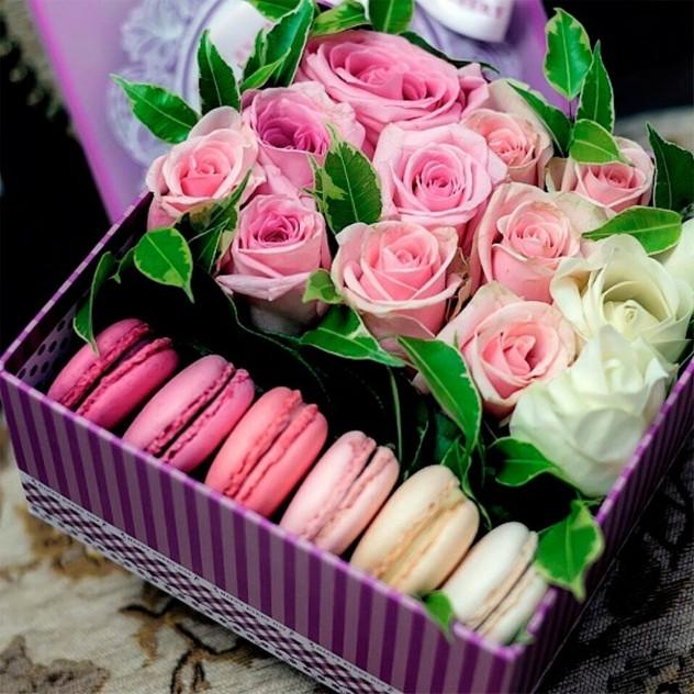 Розы с печеньем 1