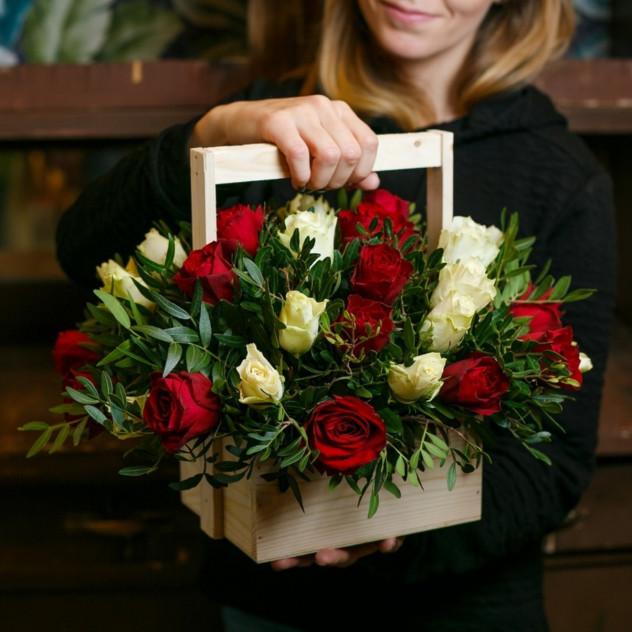 Ящик роз